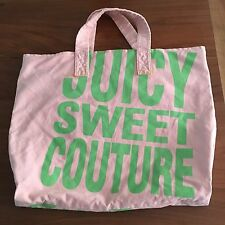 Juicy Couture Beach Bag Light Pink And Green (stains)
