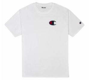 Champion LIFE Men/'s Short Sleeve Black//White T-Shirt