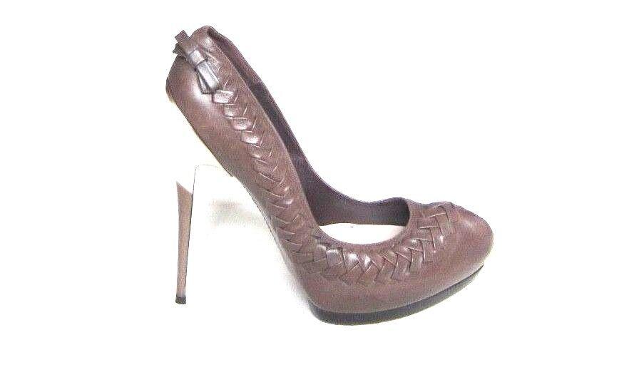 2009 Collection RARE Salvatore Ferragamo Platform Metal Mirror Heels sz 9