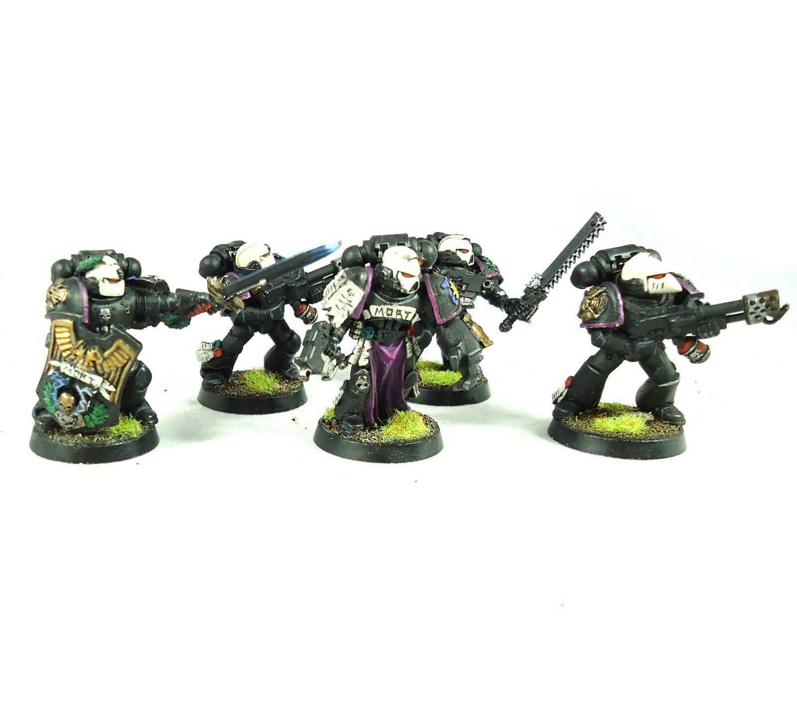 Warhammer 40k Space Marine Army 5 Man Squad Painted And Based