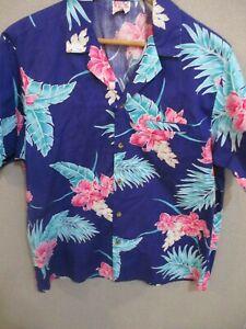 7a5d3569 80's barefoot in Paradise Hawaiian Aloha Shirt Size Large | eBay