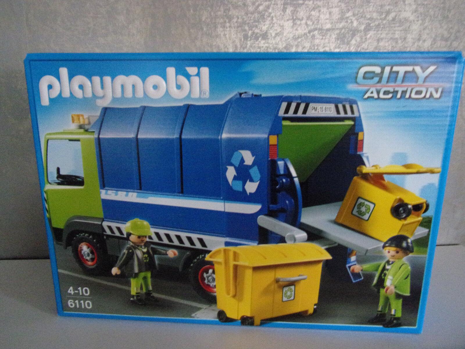 Playmobil City Action 6110 Nouveau Camion de Recyclage - Neuf et Emballage
