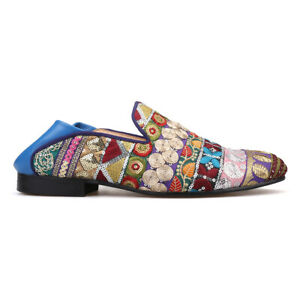 Occident-Mens-Leather-Sequins-Embroidery-Loafers-Slip-On-Party-Casual-Shoes-Hot
