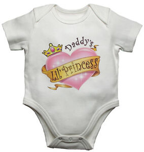 Daddy-039-s-Little-Princess-Divertente-Personalizzato-Body-Bebe-Neonato-Body-Bebe