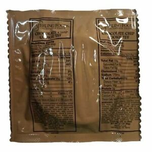 MRE DESSERT CHOCOLATE CHIP COOKIES EMERGENCY FOOD RATION CAMPING PREPPER