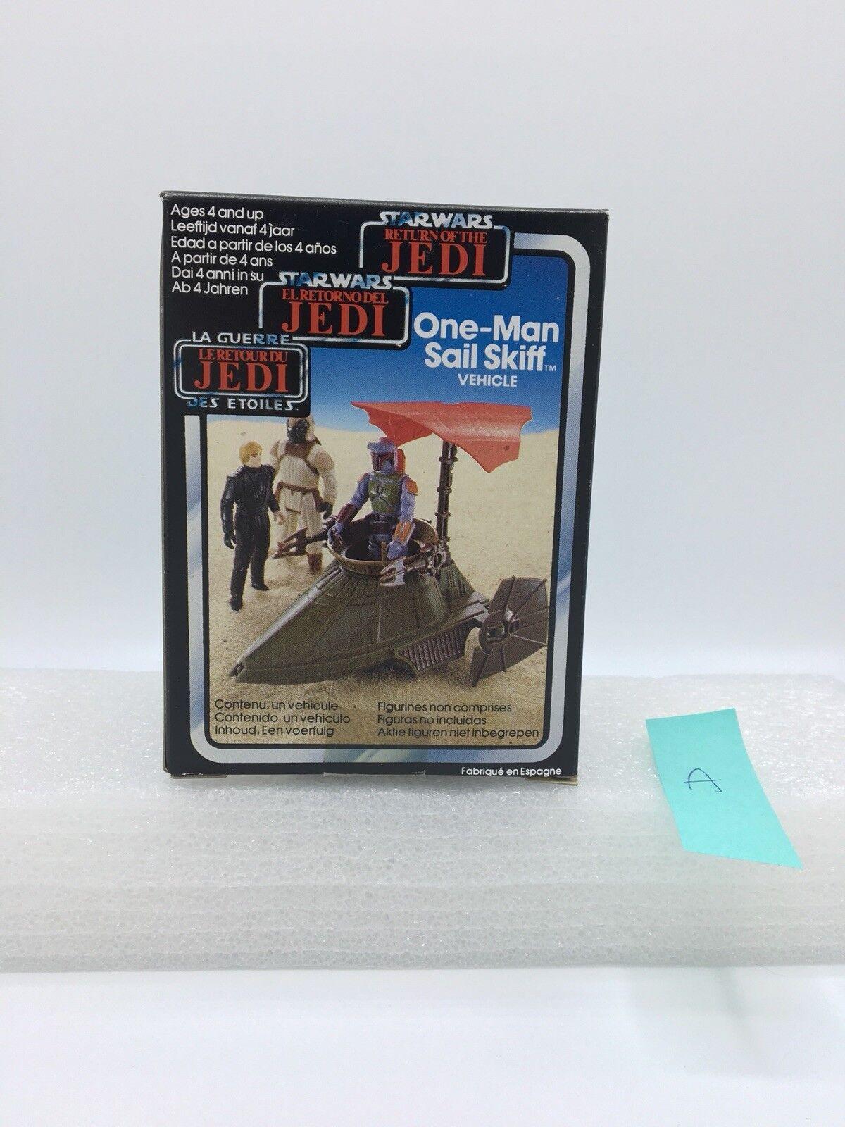 Star Wars ROTJ 1983 Palitoy Trilogo One Man Sail Skiff Mini-Rig MISB Case Fresh