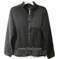 Mens Aeropostale Sherpa Fleece Zip Jacket Black L