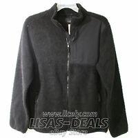 Mens Aeropostale Sherpa Fleece Zip Jacket Black L