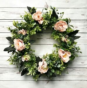 Beau Image Is Loading Spring Summer Wreath Front Door Silk Flower Greens