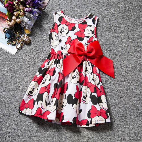 Kid/'s Girls Minnie Mouse Tutu Tulle Dress Summer Party Spotted Princess Skirts