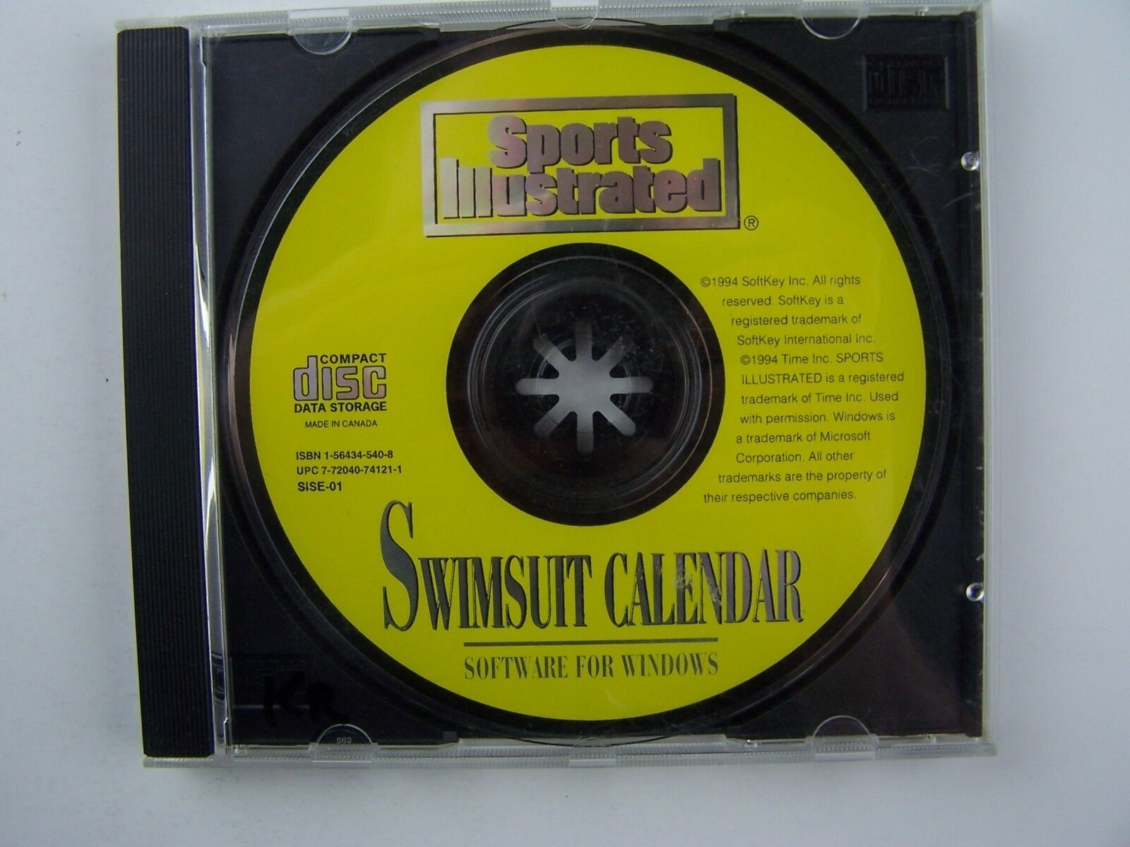 Sports Illustrated Swimsuit Calendar 1994 CD Rom Only ~