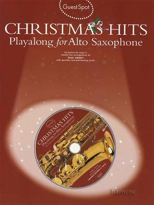 Guest Spot Christmas Hits Playalong for Alto Saxophone Music Book /& Backing CD