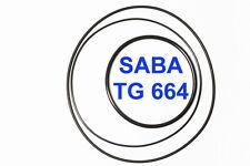 SET CINGHIE SABA TG 664 REGISTRATORE A BOBINE BOBINA EXTRA FORTI FRESCHE TG664