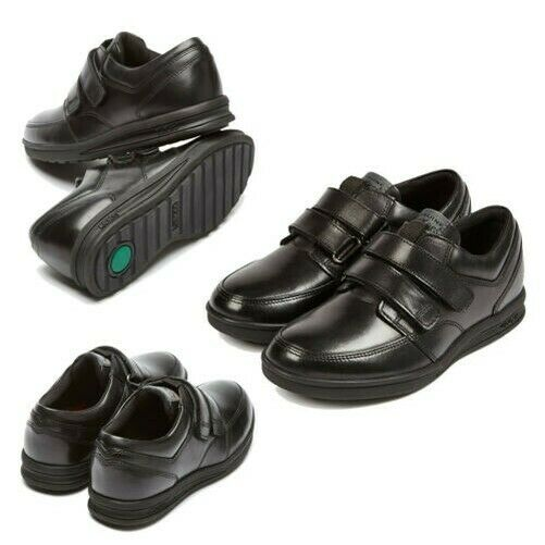 Kickers Mens Troiko Durable Leather Hook And Loop Straps Hard Wearing Shoes
