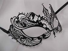 Venetian Style Laser Cut  Metal Filigree Masquerade Party Mask Diamante F2