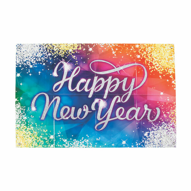 Mini New Year'S Eve Jeweltone Banner - Party Decor - 1 ...