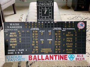 Yankee Stadium Scoreboard Replica 1950's New York Yankees Larsen Mickey Mantle