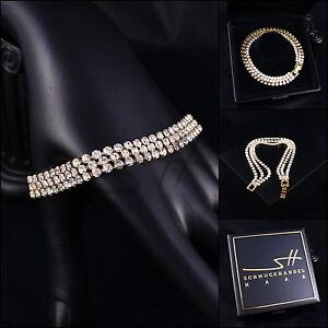 Edles-Armband-Bracelet-Cubic-Zirkonia-Gelbgold-pl-Swarovski-Elements-Etui