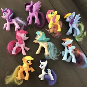 My Little Pony 2 4 Brush Able Tails Lot Of 9 Assorted Ebay