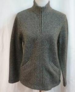Lauren-Ralph-Lauren-Womens-Lambswool-Full-Zip-Cardigan-Sweater-Size-Petite-M
