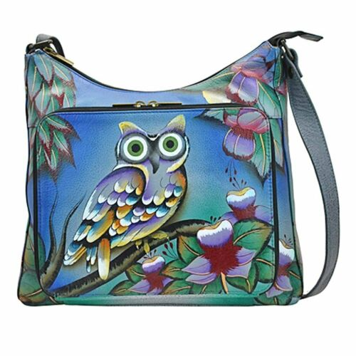 Anna By Anuschka Travel Organizer Purse Hand Painted Design on Real Leather...