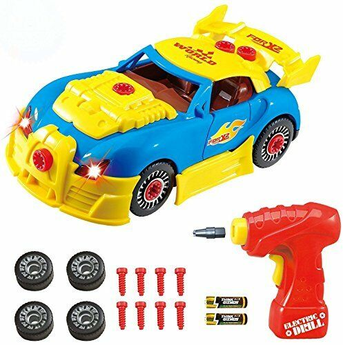 Take Apart Toy Racing Car - Construction Toy Kit For Kids - Build Your Own Car K