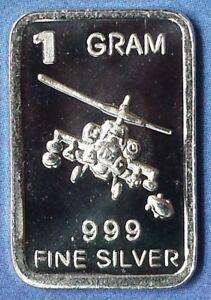 "/""F-35 Fighter/"" Design 1 gram .999 Fine silver bullion bar NEW! Lot of 10"