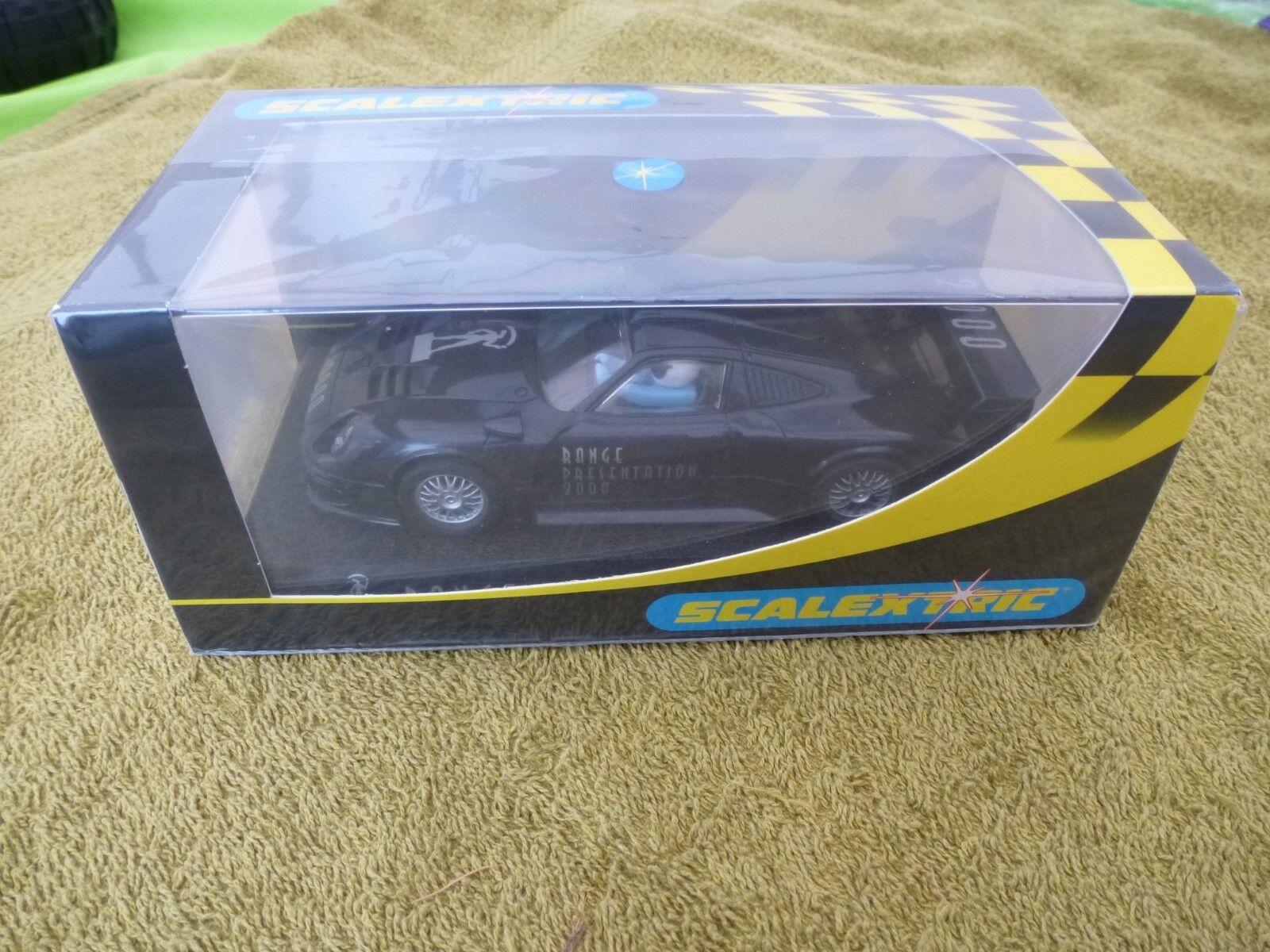 Scalextric NEW 1 32 C2317 bluee Porsche GTi  78 of 300 Range Presentation 2000