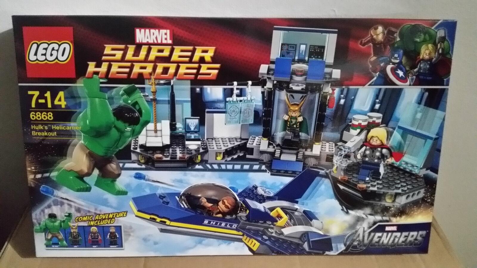LEGO Super Heroes Hulks Ausbruch mit mit mit dem Helicarrier (6868) NEUWARE aus Sammlung 010eba