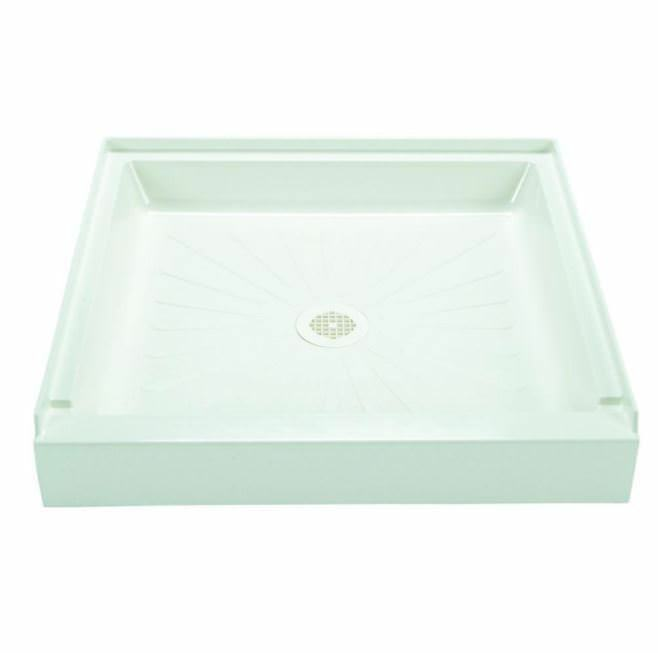 Fibre de Verre Douche base 36  X 36  Blanc Simple Seuil Center Floor Drain
