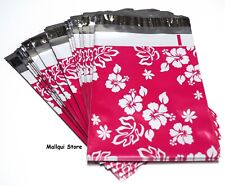 100 Pink Aloha Designer 6 X 9 Mailer Poly Bags Shipping Mailing Plastic Bags