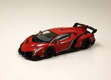 Kyosho 1:18 Lamborghini Veneno, red pearl with red/white/green stripe