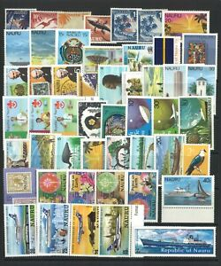 Nauru-50-Different-Stamps-in-Glassine-Bag-All-Mint-Unhinged