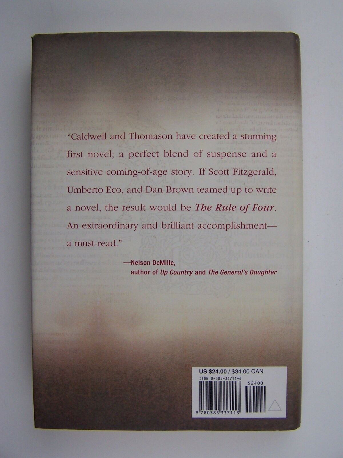 The Rule of Four Hardcover by Ian Caldwell, Dustin Thom