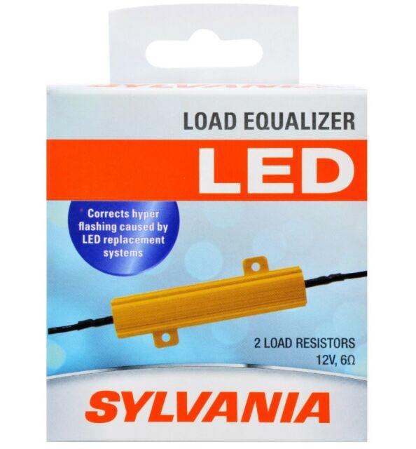Sylvania LED Carga Ecualizador Resistor 7443 Trasera Intermitente Hyper Flash