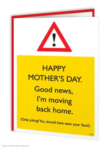 Mère/'S Jour Carte de vœux Mum Mummy Funny Comédie Humour Nouveauté Coquin Blague
