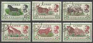 Timbres-Animaux-Ethiopie-371-6-o-lot-25246