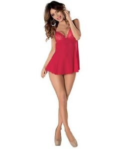 fc6139ff1 Image is loading Mesh-amp-Lace-Babydoll-W-Underwire-Cups-Ajustable-