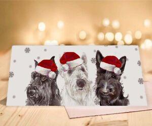 Single Large Luxury Fox Terrier Christmas Card Gift//Present Dog