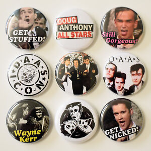 DAAS-Doug-Anthony-All-Stars-Badges-Buttons-Pins-Set-Lot-x-9-25mm