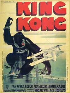 FILM-MOVIE-KING-KONG-WRAY-ARMSTRONG-FRENCH-ART-PRINT-POSTER-BB7890