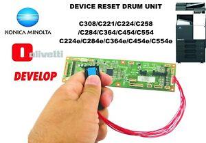 Details about Device Reset Drum Chip Konica Minolta C221/C308/C224/C284