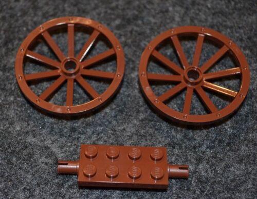 Wagon Wheels w// Axel Brick ~ NEW Pirate Castle Genuine Lego Bricks ~ NEW 2
