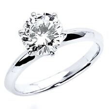 2.5 Ct Round Cut Solitaire Engagement Wedding Promise Ring Solid 950 Platinum