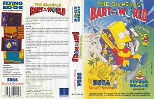 - Bart vs The World Master System Replacement Box Art Case Insert Cover Only