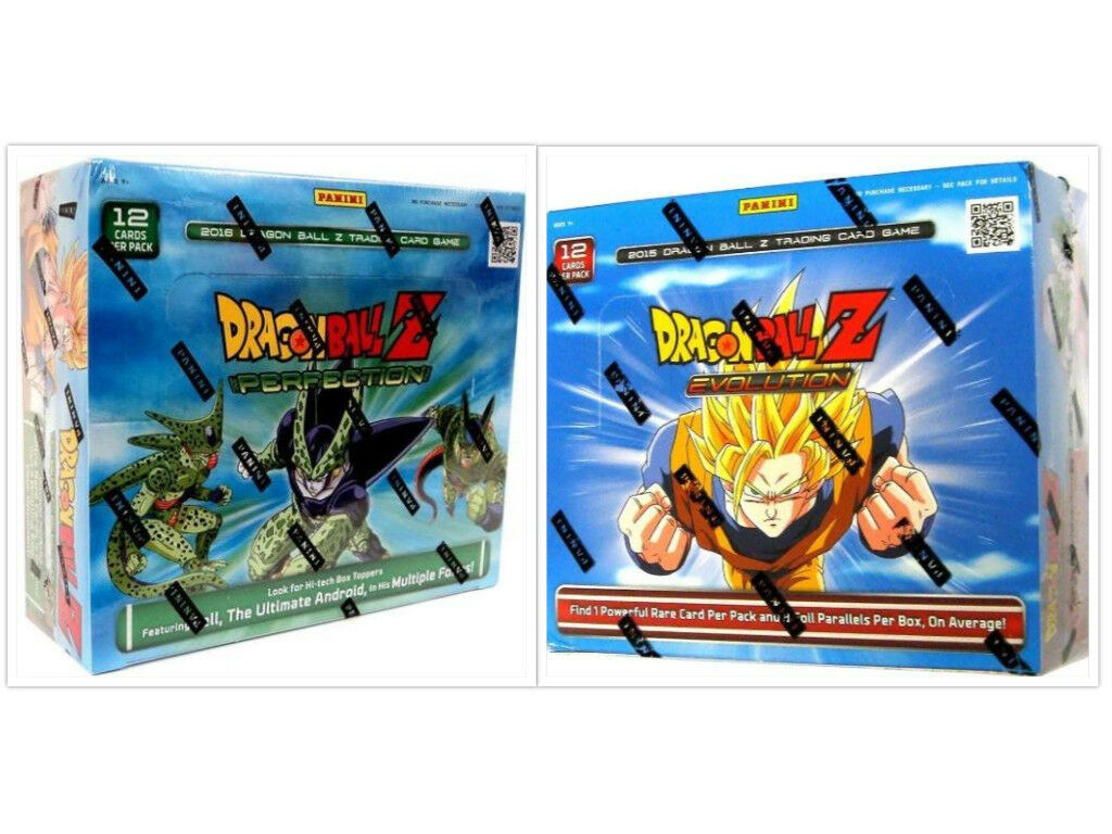 Dragon ball z entwicklung + perfektion booster kisten dbz hervorruft, trading card game - bundle