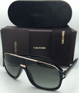 4bb958b28c4 New TOM FORD Sunglasses ELIOTT TF 335 01P 60-10 Black   Gold Frames ...