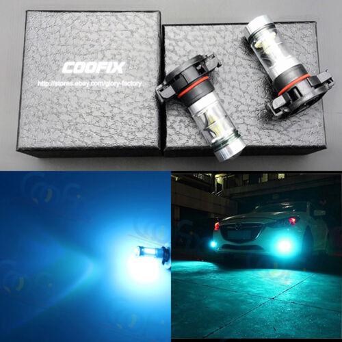 NEW 2x 5202 PS24WFF 8000K Ice Blue 100W CREE LED Headlight Bulbs Kit Fog Light
