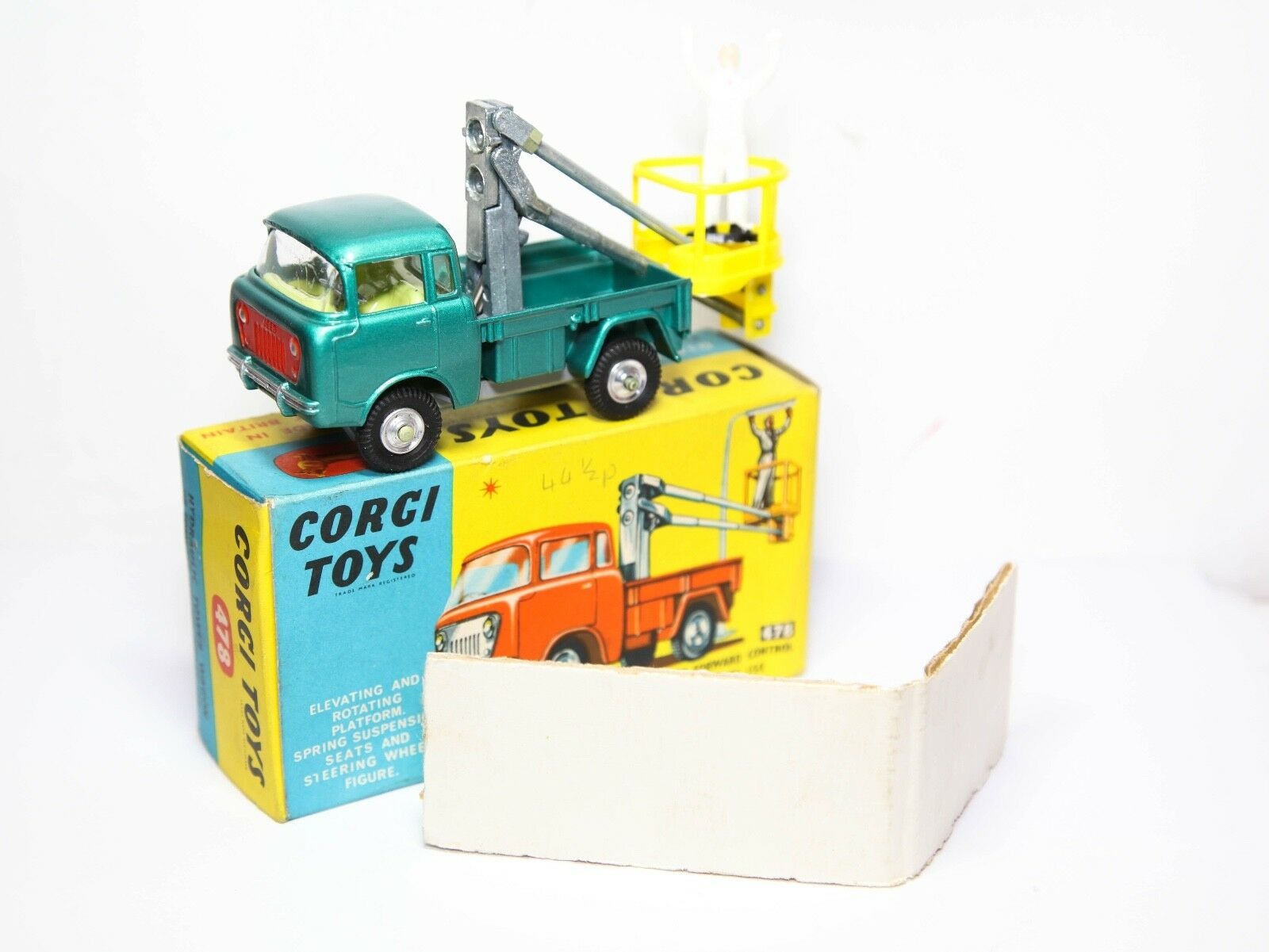 Corgi  478 Hydraulic Tower Wagon On Forward Control Jeep FC150 In Box - MINT  vente en ligne