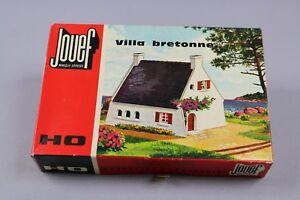 Z199-Jouef-1971-maquette-train-Ho-1-87-villa-bretonne-decor-diorama-maison-kit